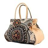 LOOKAT - Handtasche Mexicostyle Lederimitat LK138064, Farbe:Beige