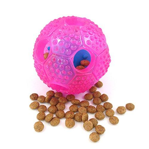 Yowablo Haustier Hund Katze Spielen Quack Sound Chew Treat Halter Ball Spielzeug (7 * 7cm,Pink)