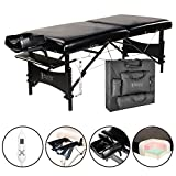 Master Massage 30' Galaxy Therma-Top Portable Massage Table Package, Black, Adjustable Heated Top