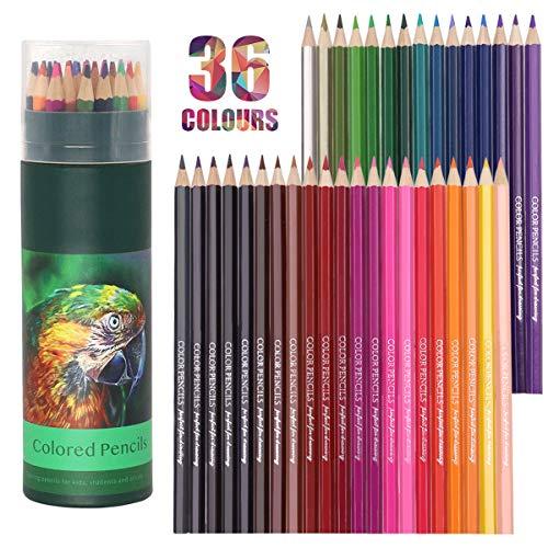 Lápices de colores, 36 lápices de colores profesionales, lápices de dibujo, juego...
