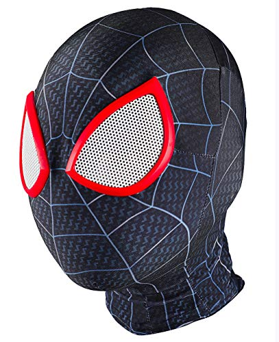 Kids Into The Spider-Verse Cosplay Miles Morales Mask Halloween Hood