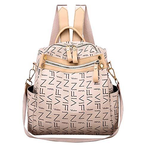 VECOLE Rucksäcke Mädchen Damen Schoolrugzak rugzak Für eine grössere Darstellung klicken Sie auf das Bild. Kühler Rucksack Leder Rucksack(Beige)