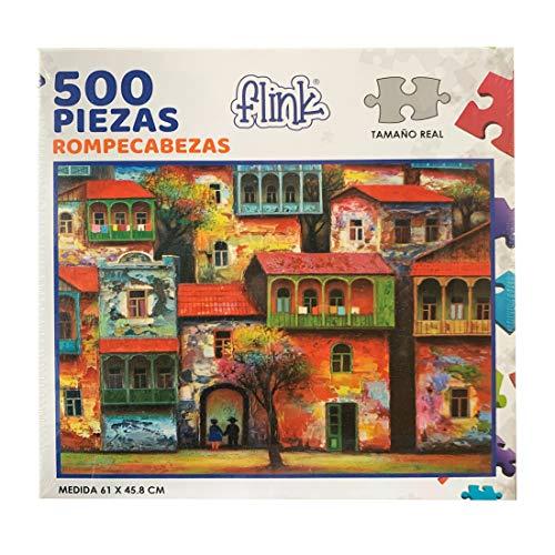 FLINK Rompecabezas Casas Pintura