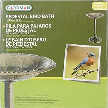 Gardman BA01281 Pedestal Bird Bath, Antique Copper Effect, 20  Wide x 28  High