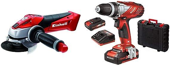 Einhell Expert TE-AG 18 Li Radial angular sin cable, hoja de sierra, 8500 rpm + Einhell Expert TE-CD 18 Li - Taladro sin cable