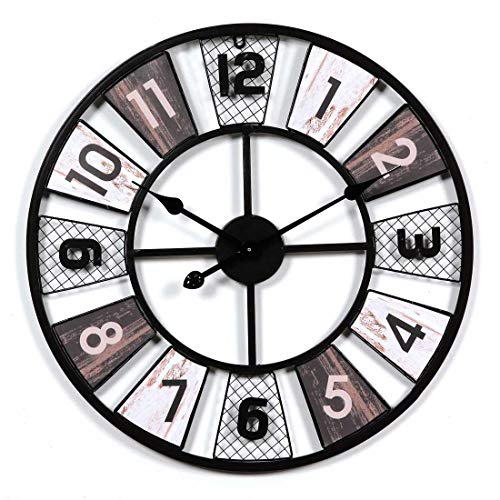 CHEBEND Chebendmodern Silent No Tick In The Living Roomproduct Wrought Iron Vintage Wall Clock Living Room Mute Simple Wall Clock