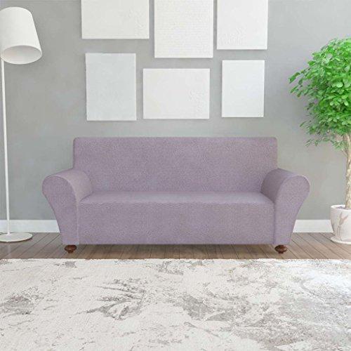 Funda de sofá de 3 plazas, muy elástica, lavable, color puro, color gris
