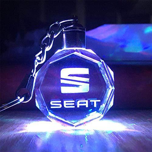 Preisvergleich Produktbild Unbekannt Schküsselanhänger Auto-Logo-Taste Kette LED Licht Seat