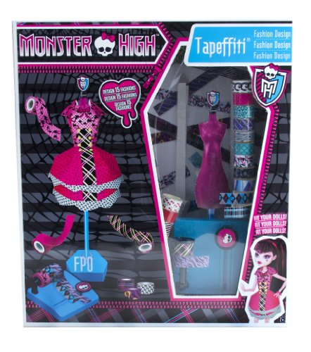 Monster High Tapeffiti Fashion Design Dress Kit