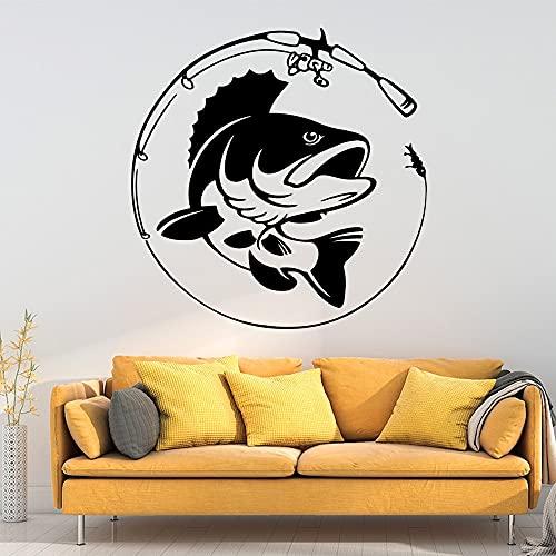 Adesivi murali impermeabili di pesce moderno decorazione della casa vivaio rimovibile decalcomania murale carta da parati A8 57x58cm