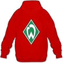 Men's Werder Bremen Logo Print Hoodies Sweatshirt Black Custom By Rahk