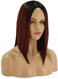 Hairpieces Hair Extension Fashion Ladies Short Straight Hair Red Gradient Wig Hair Sets Hair Weave