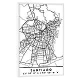 artboxONE Poster mit weißem Rahmen 75x50 cm Städte
