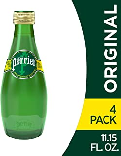Perrier Carbonated Mineral Water, 11.15 fl oz. Glass Bottles (4 Pack)
