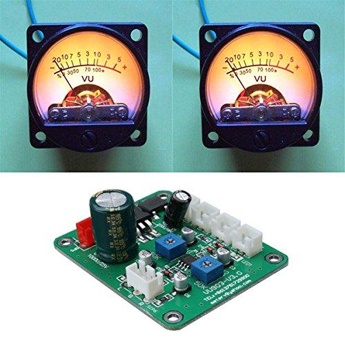 ILS - 2 pezzi VU Meter caldo Registrazione retroilluminazione del livello audio amplificatore con modulo del driver