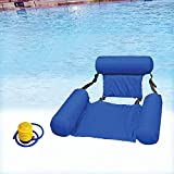 BERNIE ANSEL Inflatable Swimming Floating Chair,Water Chair Inflatable Swimming Pool Float Lounge,Comfortable Adult Teenager Water Floating Hammock for Indoor Outdoor Swimming Pool Blue