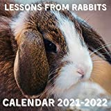 Lessons From Rabbits Calendar 2021-2022: April 2021 - June 2022 Square Photo Book Monthly Planner Mini Calendar With Inspirational Quotes