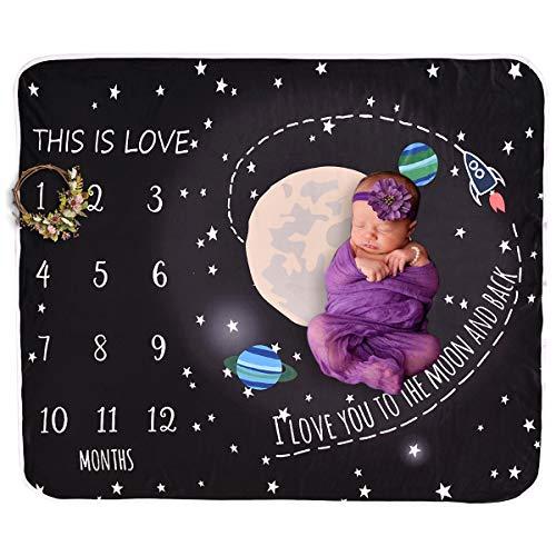Manta de hito mensual de Baby Print del universo
