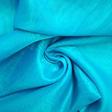 Handicraft-Palace Plain Voile Cotton 5 m Arrow Solid Material Fabric (Turquoise)