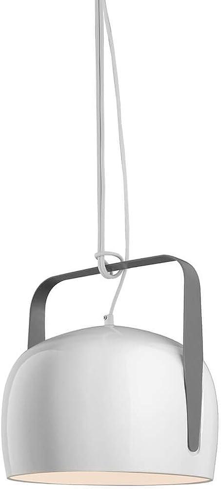 Karman bag, lampada a sospensione Ø21 cm,in ceramica liscia bianco lucido SE154CB INT