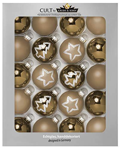 KREBS & SOHN Set di palline di Natale in vetro 5,7 cm – Decorazioni per albero di Natale – 20...