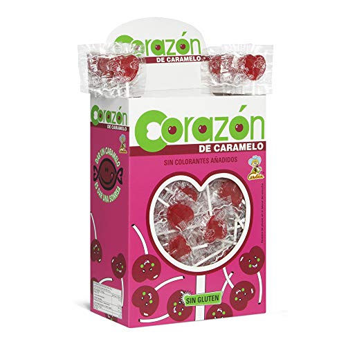 Cerdán Piruletas Mini con Forma de Corazón Sabor Cereza Estuche de 200 Unidades de 5.2 g