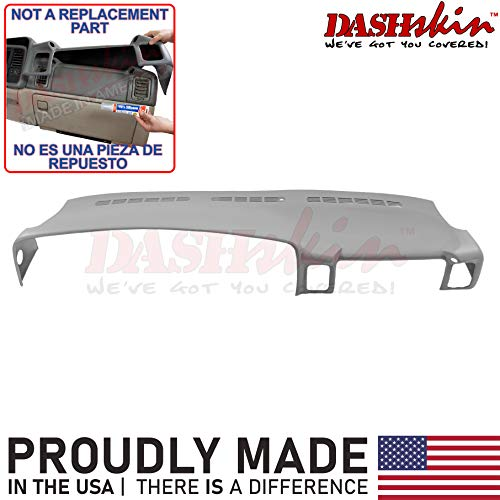 DashSkin Molded Dash Cover Compatible with 00-06 GM SUVs exc Escalade and 99-06 Pickups in Light Pewter Grey (Not a Replacement Part)