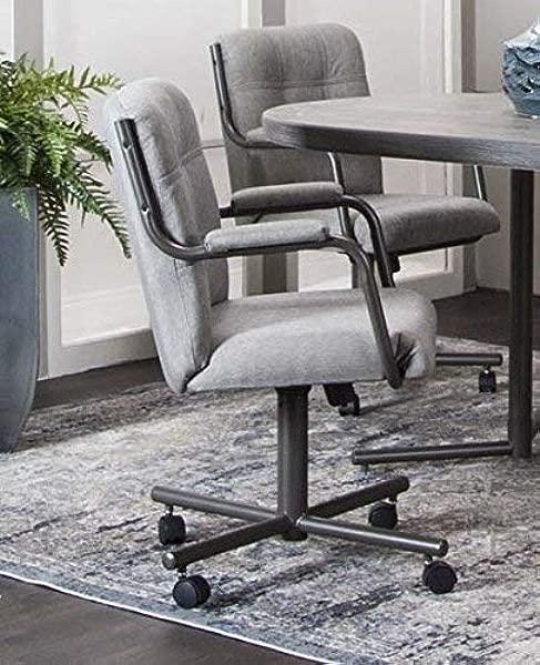 脚轮椅公司加纳旋转倾斜脚轮扶手椅在鸽子花呢织物