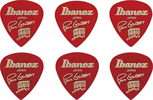 Ibanez B1000PG-CA Plektren Signature Modelle Paul Gilbert (6 Stück) rot