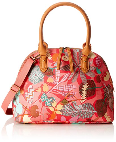 Oilily Damen Boston Bag Henkeltasche, Pink (Pink flamingo), 16x27x36 cm