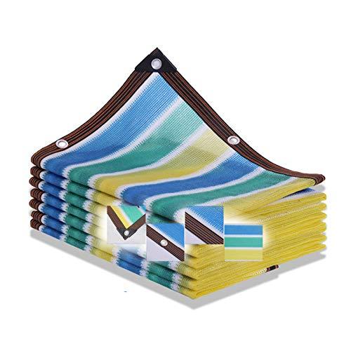 ZXCVBAS Stripe Shade Net,Shade Mesh,Sun Shade Sail Outdoor Shade Net/Heat Insulation Net,90% Color Stripe Shade Cloth, for Garden Patio Pergola Encryption Thickening,10x12m(33 * 39ft)