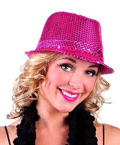 Boland 01275 - Paillettenhut für Erwachsene, Einheitsgröße, pink