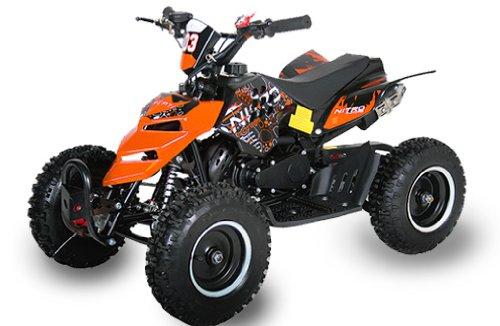Mini ATV Quad Repti 6 inch banden Miniquad Kids Quad Cross Pocketquad Oranje