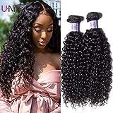 UNice Hair Kysiss Series Brazilian Curly Hair 3 Bundles Virgin Hair Weave 100% Unprocessed Human Hair Extensions Natural Color (16 18 20)