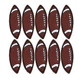 HERCHR 10 pièces Fer sur Patchs pour vêtements, Patchs brodés Bricolage Accessoires de vêtements de Couture Faits à la Main(Ballon de Rugby)
