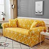 WXQY Sala de Estar Cubierta de sofá elástica geométrica sección Moderna Cubierta de sofá de Esquina Cubierta de sofá Cubierta de protección de Silla A4 2 plazas