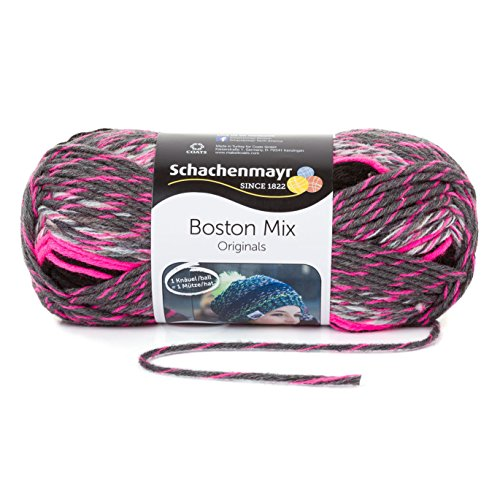 Schachenmayr Boston Mix 9807784-00087 anthrazit color Handstrickgarn
