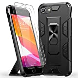 JAME Invisible Foldable Case for iPhone 8 Plus, for iPhone 7 Plus Case, for iPhone 6/6S Plus Case with Screen Protector [2pcs], Protective Phone Cover with Magnetic Metal Kickstand, 5.5 Inch Black