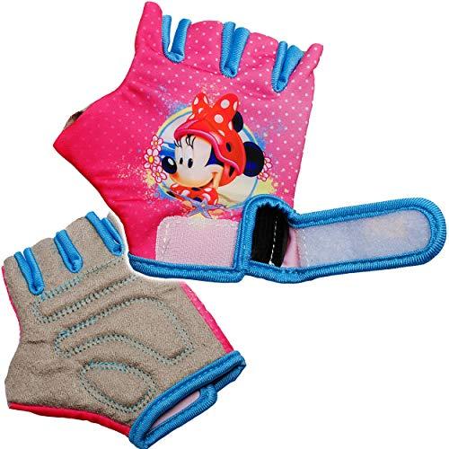 alles-meine.de GmbH Fahrradhandschuhe - Disney Minnie Mouse - abgepolstert - 3 bis 8 Jahre - universal auch für Roller Dreirad Laufrad / Kinderfahrrad Kinder - Mädchen Playhouse ..