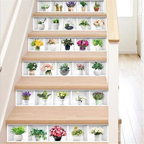 6 pegatinas autoadhesivas para escaleras de azulejos de mosaico, vinilo adhesivo para pared, vinilo adhesivo de pared para cocina, pegatinas de cerámica para decoración del hogar (color: DLT009)