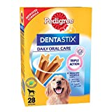 Pedigree Dentastix Large Breed (25 kg+) Oral Care Dog Treat, 1.08kg Monthly Pack (28 Chew Sticks)