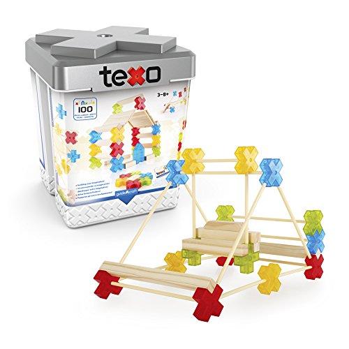 Guidecraft Texo Konstruktion, 100 Stück, Mehrfarbig (1)