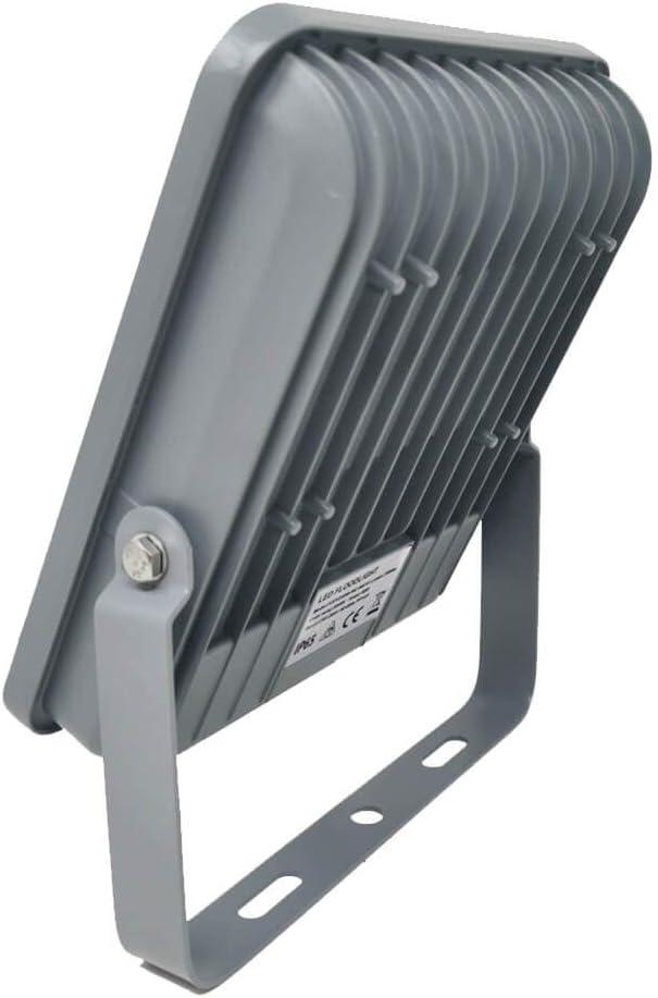 Blanco Neutro 4000K FactorLED 50W Foco Exterior Led Osram chip 50 Proyector Led IP65 A++ Floodlight iluminaci/ón profesional No Flicker