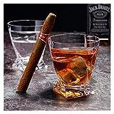 Home+ Vasos de Whisky, Engrosada Crystal Cigarro Cristal Creativo Whisky De Cristal Recta Beber Jugo De Vidrio Sin Plomo Glass Bar Utensilios