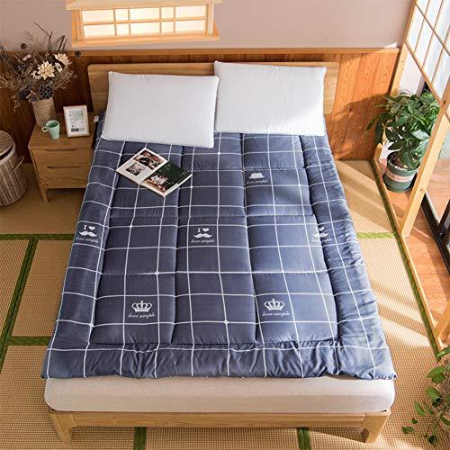 Japaner Zusammenklappbar Futon Tatami Bodenmatratze, Gesteppter Weich Tragbar Matratzenauflagen,ganze Saison Premium Überfüllt Matratze Verdicken Sie-e 120x200cm(47x79inch)