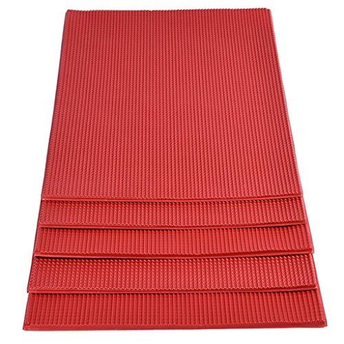P Prettyia 5 Stück 1:75 Kunststoffplatten Bastelplatte Dachziegel für Modellbau Basteln