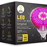 LED Grow Light Bulb - for Indoor Plants Full Spectrum Lamp | Seed Starting, House, Garden, Vegetable, Succulent, Hydroponic, Greenhouse & Medicinal Growing | 100W E27 Plant Lights by Haus Bright