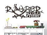 GRAZDesign Wandtattoo Kinderzimmer Junge Türtattoo - Jungszimmer Wanddeko Wandgestaltung Piraten Säbel - Wandtatoo Kinder Babyzimmer Tür Aufkleber Jungs / 79x30cm / 070 schwarz