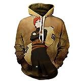 YTQQ-Naruto-Chaqueta con Estampado 3D Sudaderas con Capucha de Hip Hop para Hombres, Sudadera con Capucha de Manga Larga para niños/niñas de Anime Informal-M