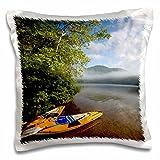 3dRose LLC. Kayak, Mirror Lake, Woodstock New Hampshire-US30 JMO0618-Jerry and Marcy Monkman-Pillow Case, (pc_92346_1), Satin White, 16 x 16 inch